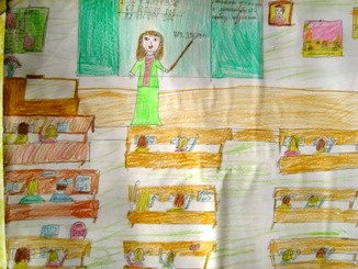 Giving, Zlatina (children's drawings)